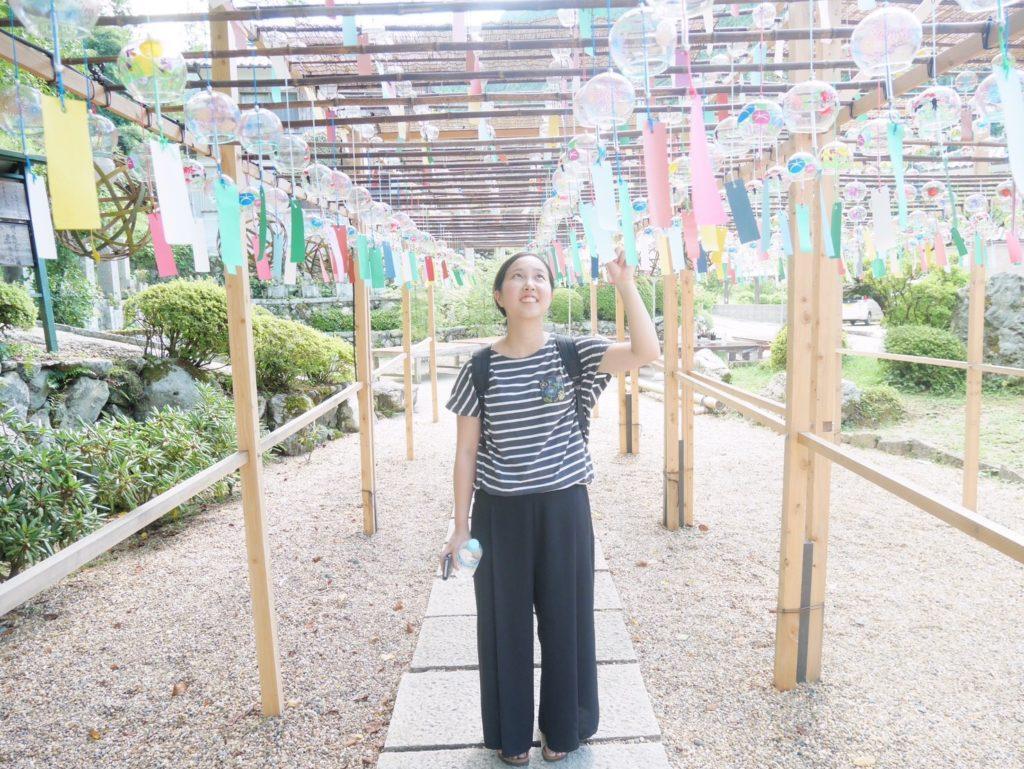 京都・宇治の正寿院の風鈴まつり