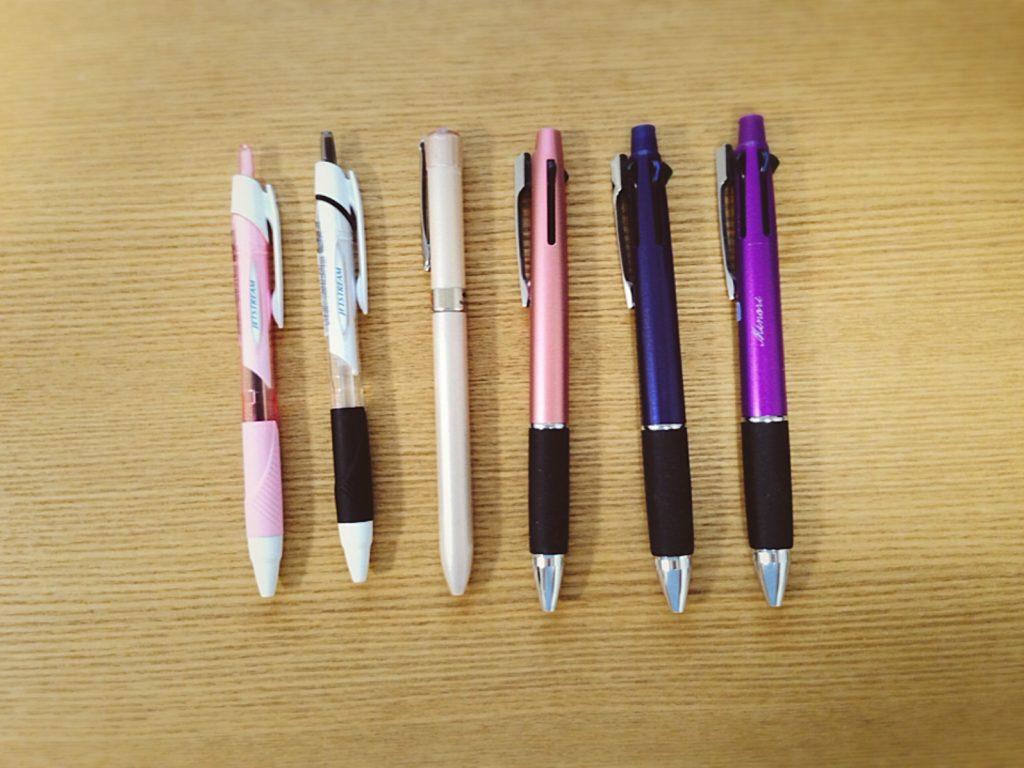 「手帳タイム」で愛用しているジェットストリーム(jetstream)のペン