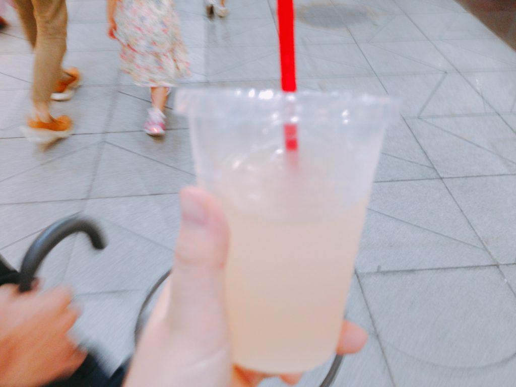 松山・夜市のゆずジュース