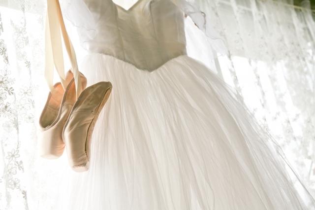 バレエの衣装とトウシューズ