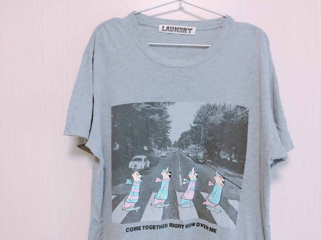 彼氏・夫に着せたいかわいいビートルズ風のクマのTシャツ