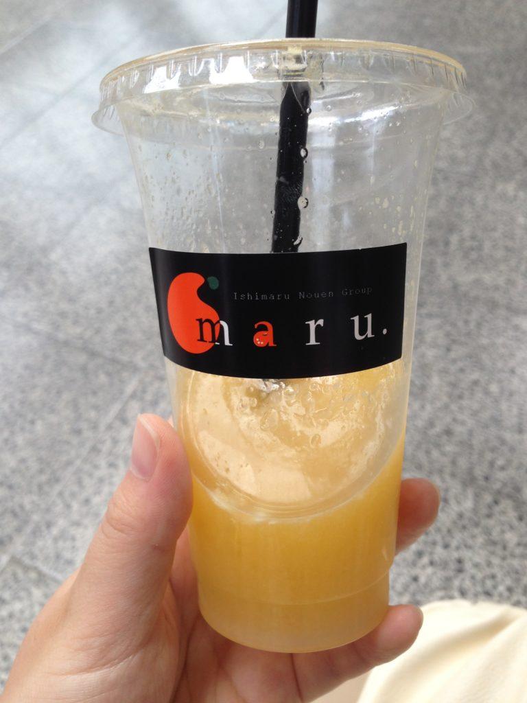 愛媛・松山空港で飲んだみかんジュースy